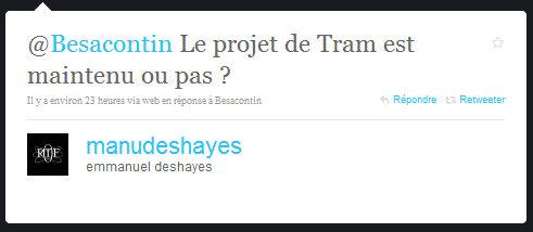 Le projet de Tram est maintenu ou pas ?