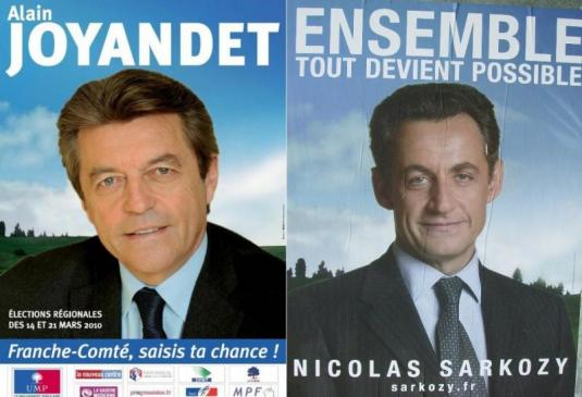 affiche Alain Joyandet VS affiche Nicolas Sarkozy