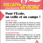 Camping parents en colère