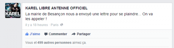 La mairie de Besançon nous a envoyé une lettre... - KAREL LIBRE ANTENNE OFFICIEL
