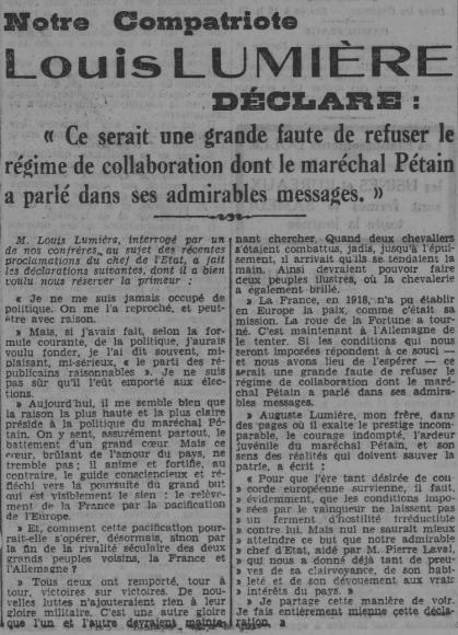 Petit Comtois du 15/11/1940